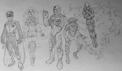 Teen Titans Redesign III by KyronicArtist