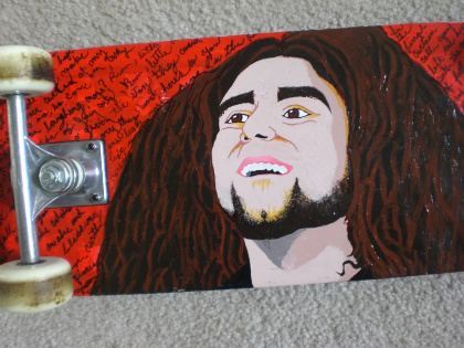 claudio sanchez skateboard by commonrider