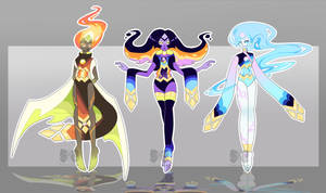 [CLOSED] Gem Auction Adopt: Opals by PersonificationMaker