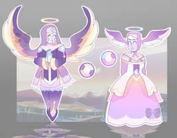 [CLOSED] Gem Auction Adopt: Angel Aura Quartzes by PersonificationMaker