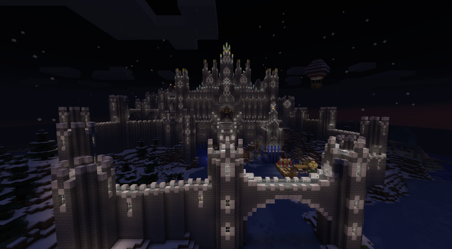 Epic minecraft castle now taller by cw390 on deviantart for Epic deep house