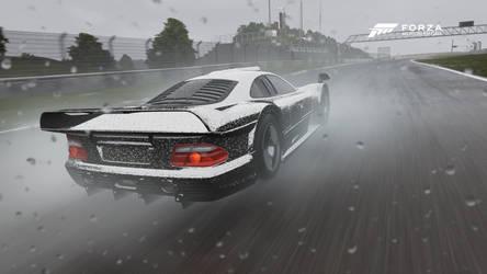 Mercedes-Benz CLK GTR at The Green Hell by Corporate-Kickass131