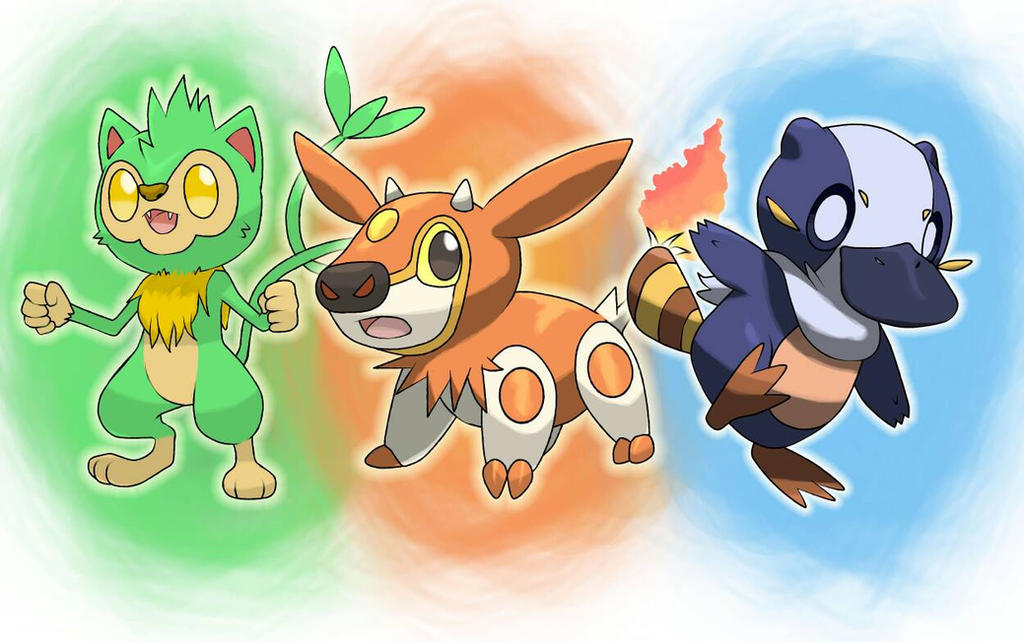 FAKEMON STARTERS by Trainerlouie on DeviantArt