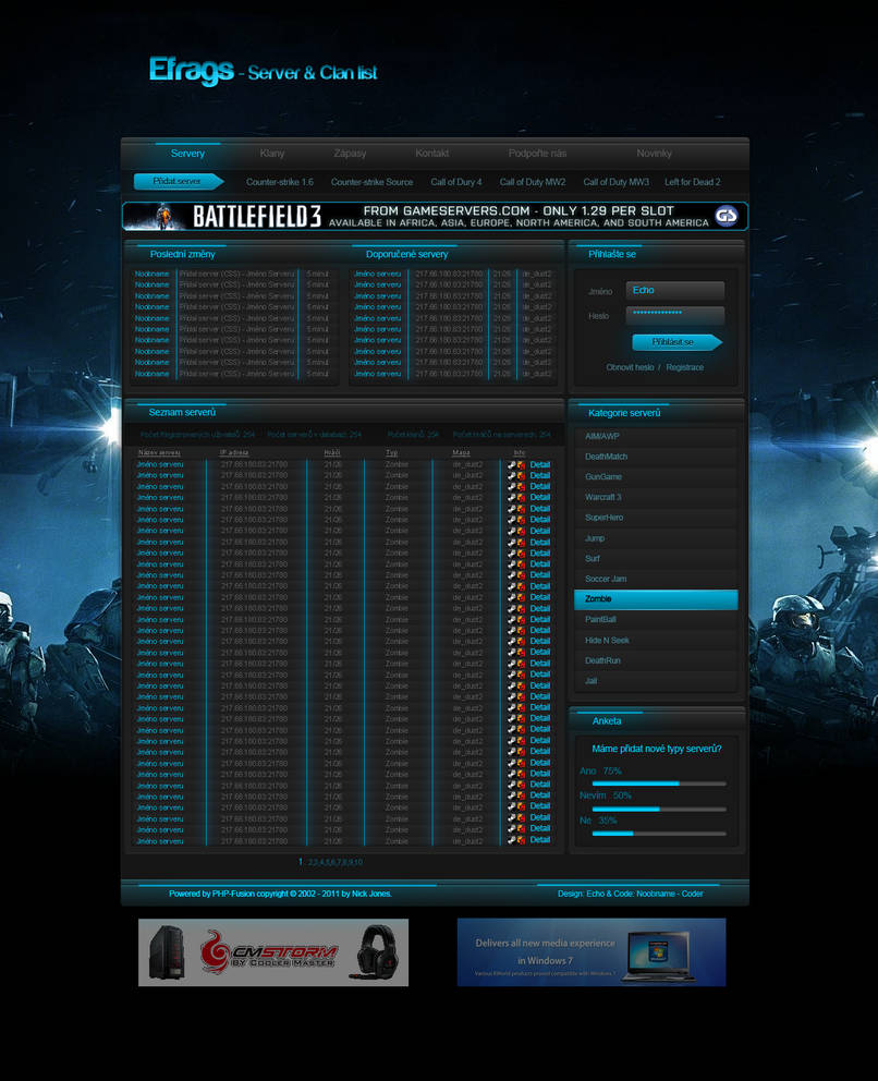 Efrags Server and Clan list by EchoGraphic on DeviantArt