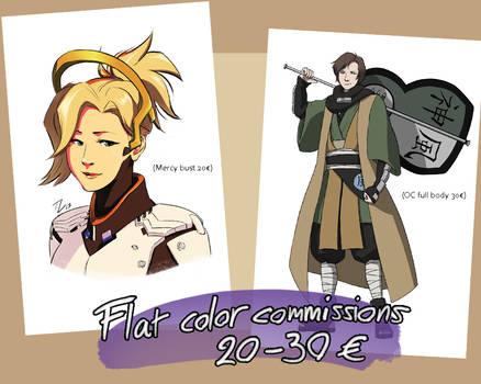Flat Color Commissions