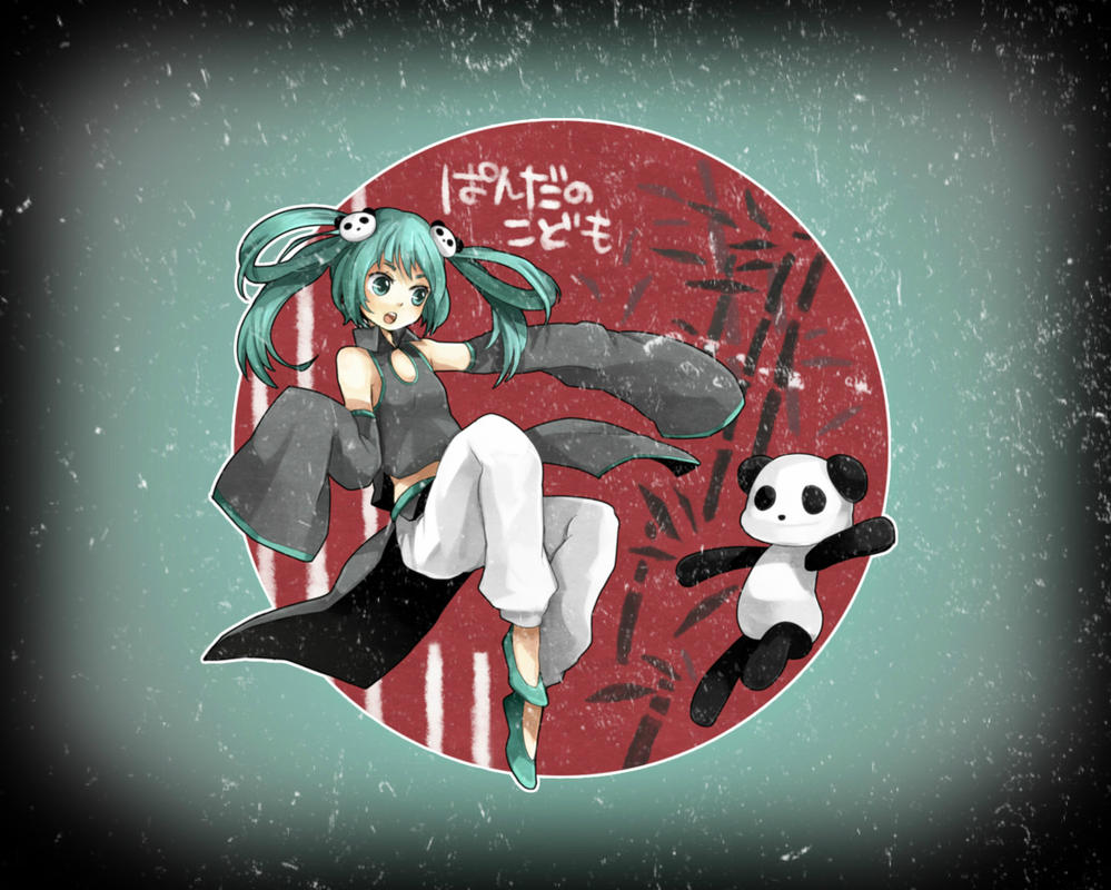 Request: Panda Miku Wallpaper by sango2000