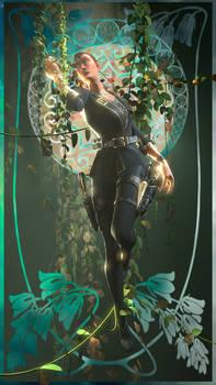 [Art Nouveau] Undead female spy