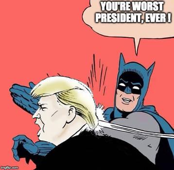 Batman slaps Trump