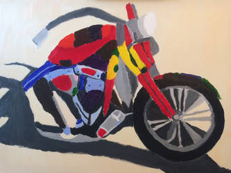 Motorcycle in acrylic by american069