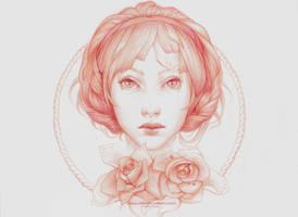 Print- Simple Portrait by JenniferHealy