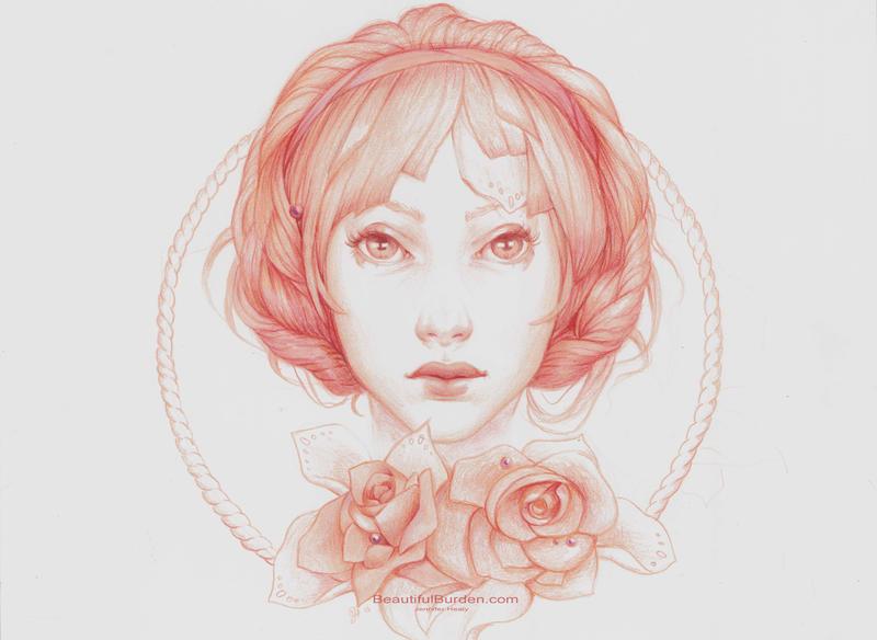 print simple portrait by jenniferhealy