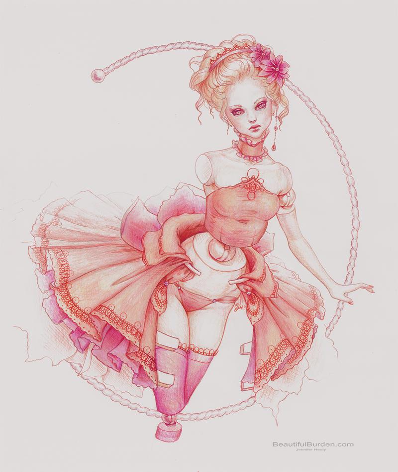 Rococo Ballerina- Print by JenniferHealy