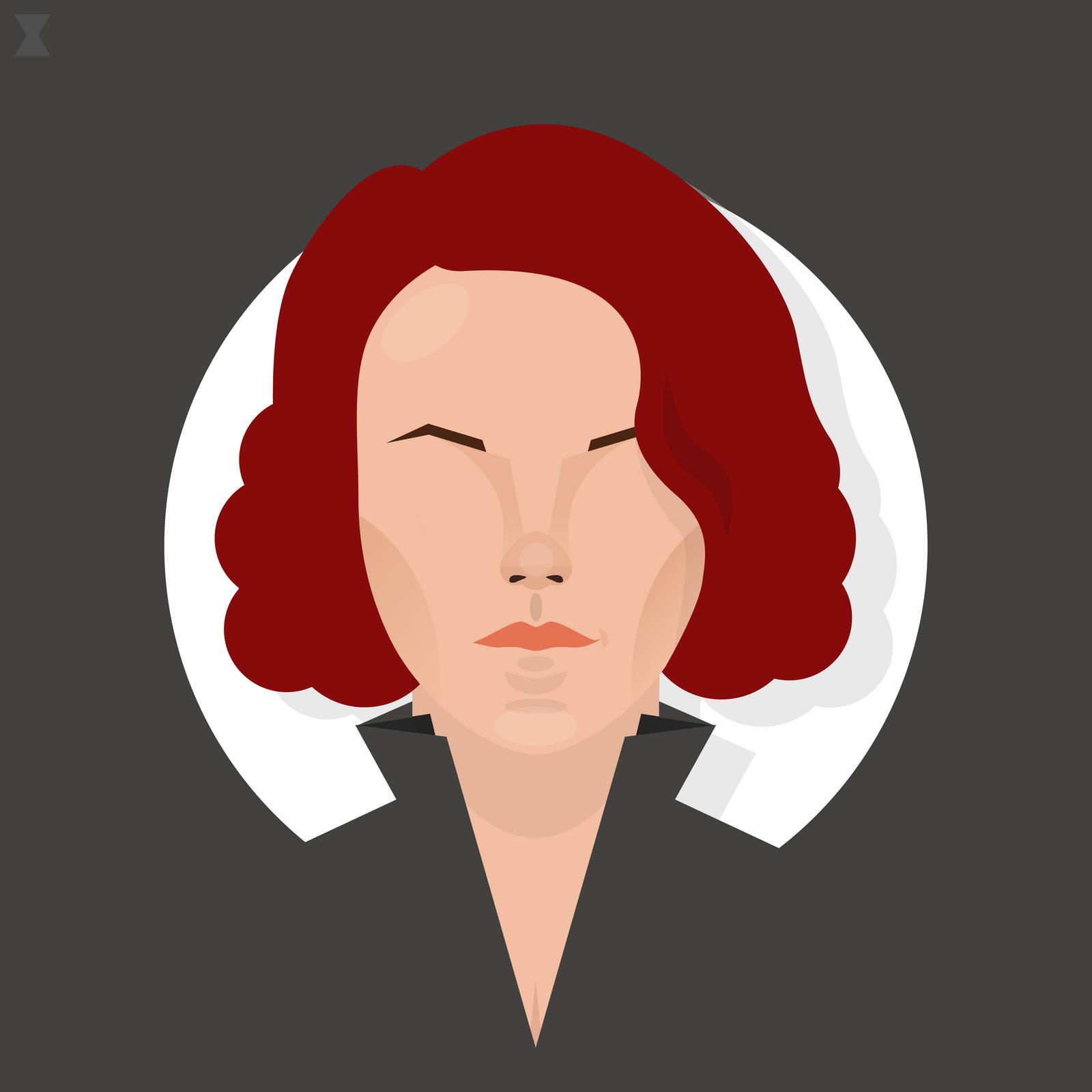 Black Widow Minimal by ellsillustrations on DeviantArt