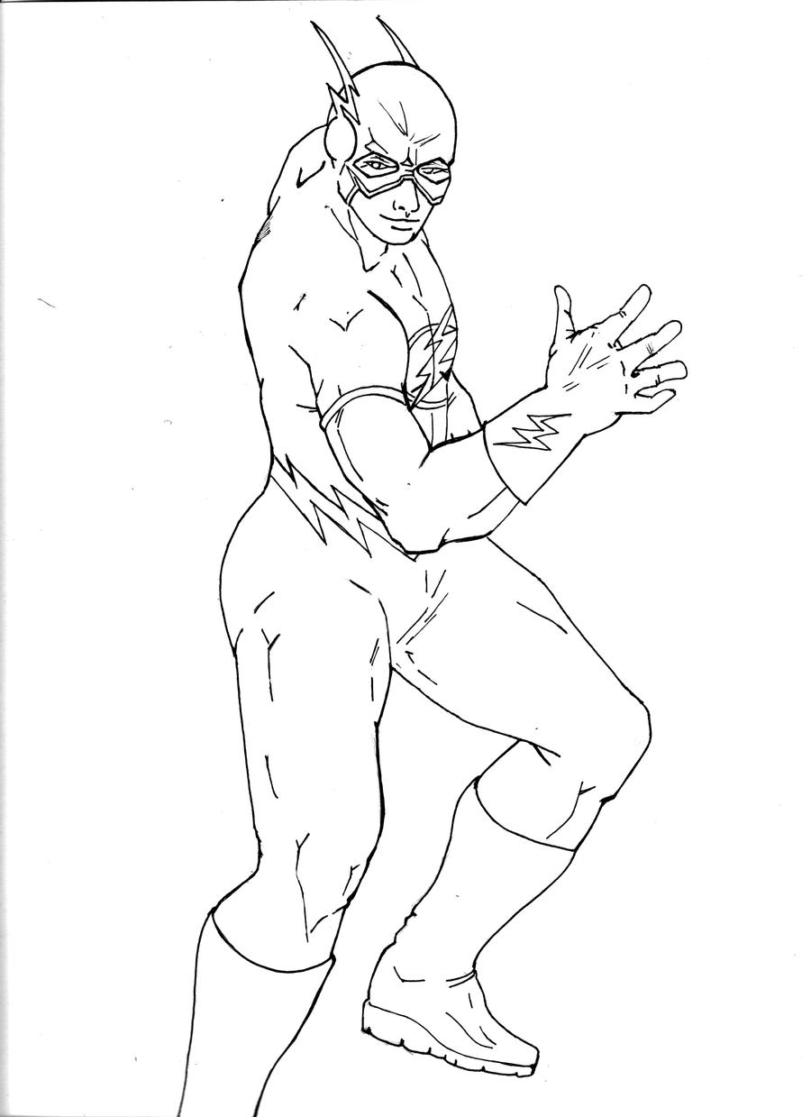 The Flash Line Art : The flash line art by adorable lab rat on deviantart