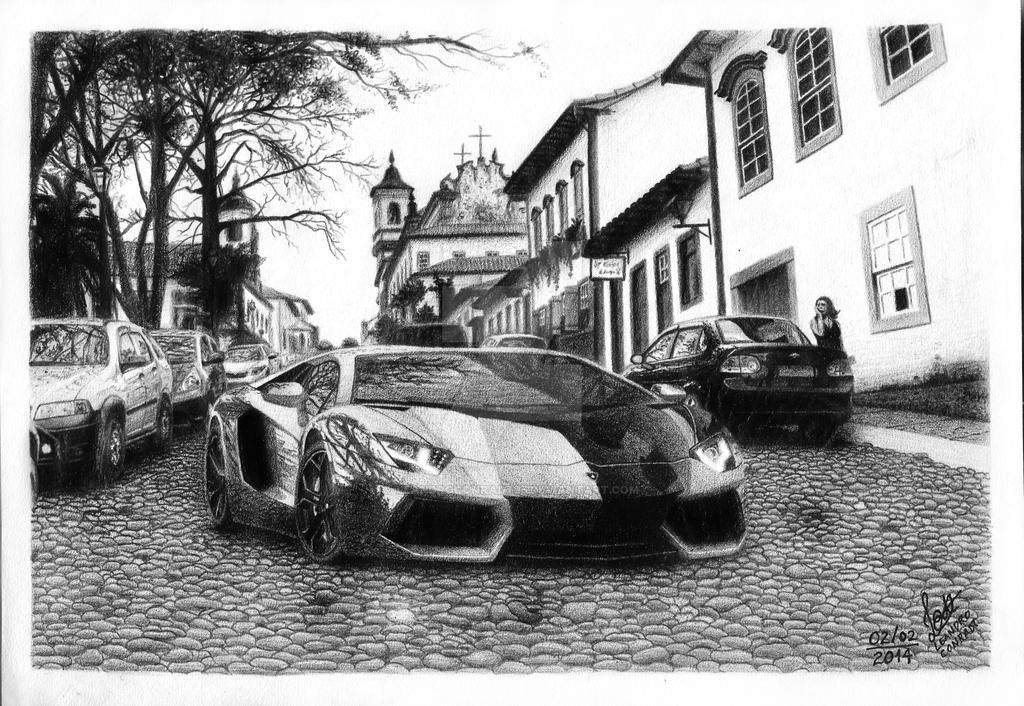 Lamborghini Aventador by leandroconradt95