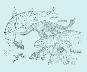 prehistoric sea monstrosities