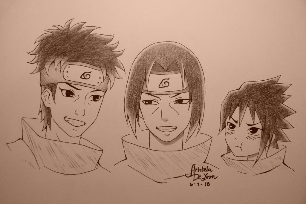 Shisui, Itachi, Sasuke by arish9