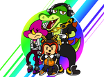 Team Chaotix  Aggretsuko Style by Mllermanda