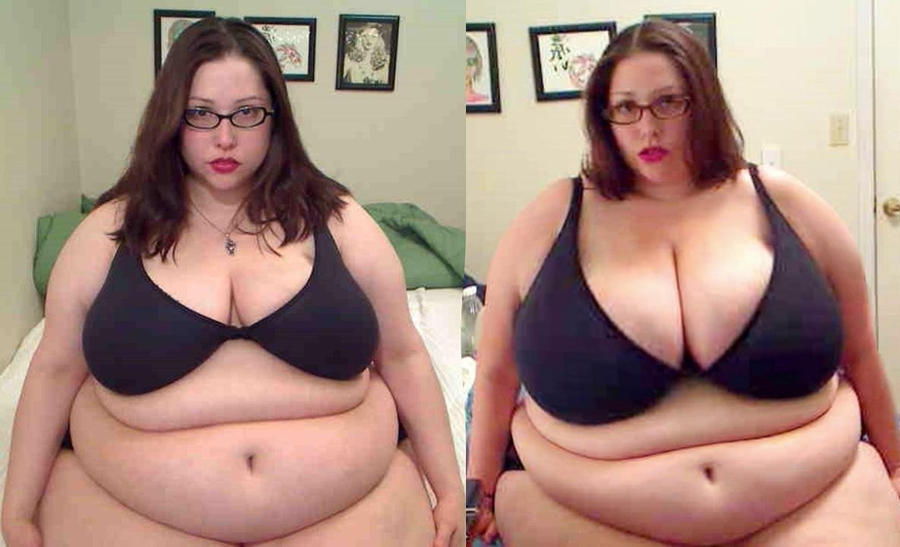 before and weight gain after Bbw