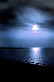 blue moon-dark sea
