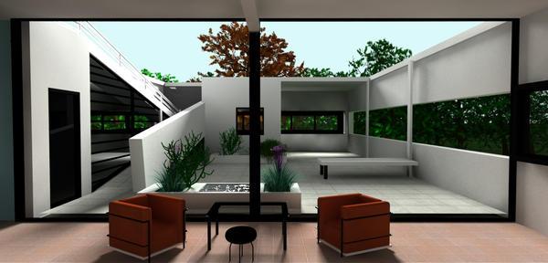 Villa Savoye Upper Floor View By Feuerdrache On Deviantart