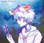 butterflies and fennet fox