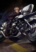 Saber Fate/Zero w Motorcycle by tanhuitian