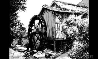 samurai seven shack study by tanhuitian