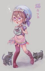 OC Catfe by tanhuitian