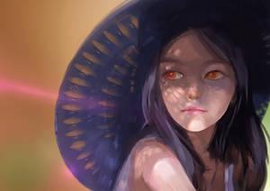 Girl Under Hat