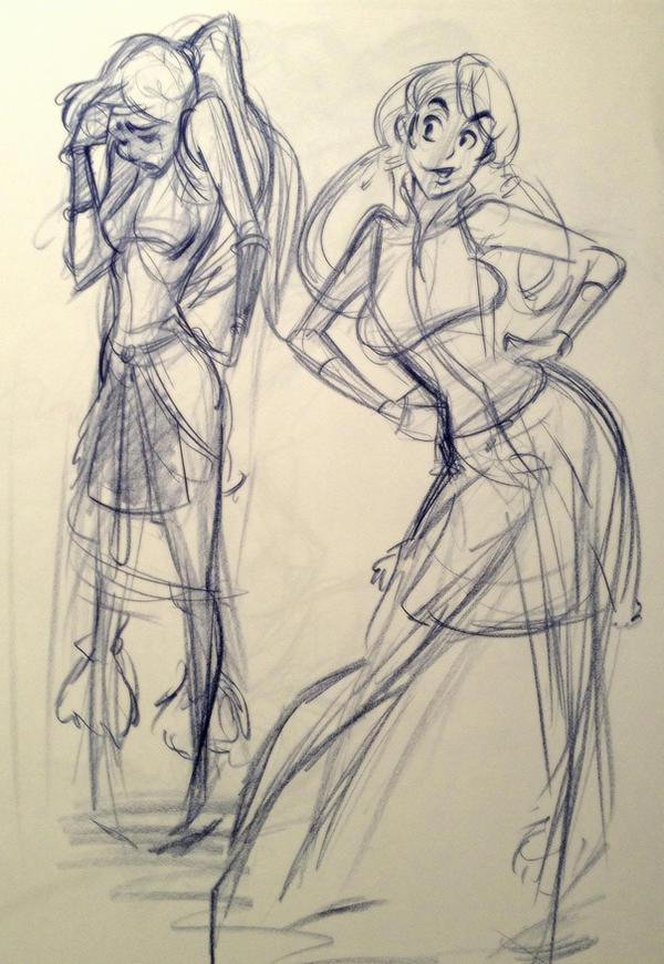 Korra model  inspired sketch by reiq