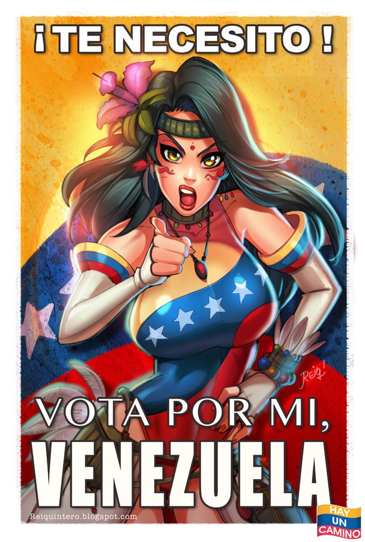 Miss Venezuela Vote for Venezuela! by reiq