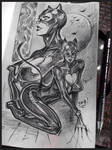 Catwoman Moleskine sketch