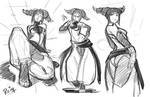 Juri Street fighter Roughs