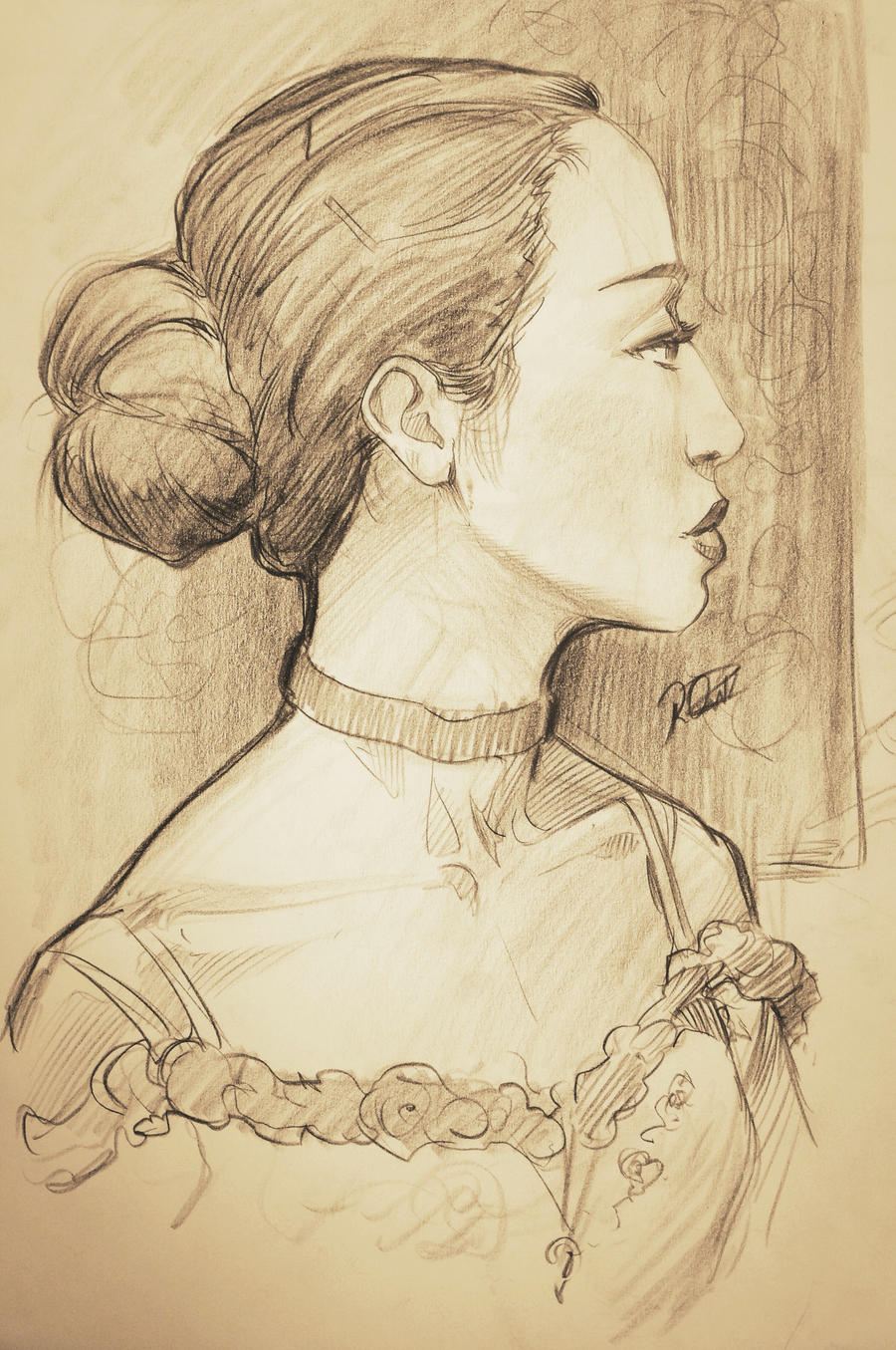 Ballet Dancer Portrait. by reiq