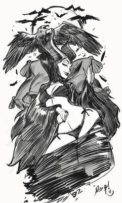 Maleficent Sketch!