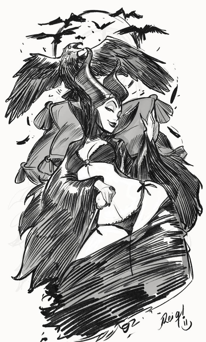 Maleficent Sketch! by reiq