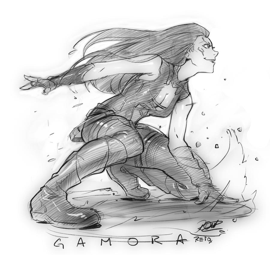 Gamora Guardians of the Galaxy. by reiq