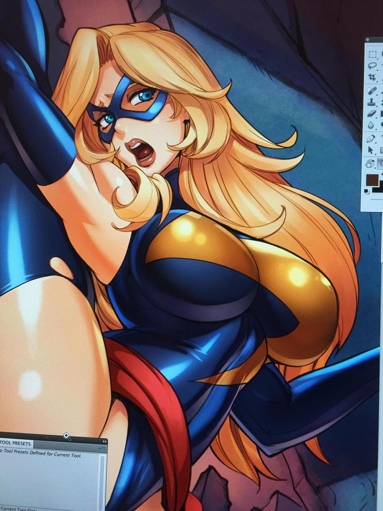 Miss Marvel in Trouble by reiq