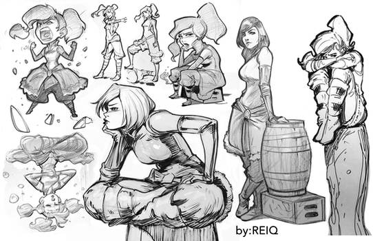 Korra Drawings from The Drawing Club