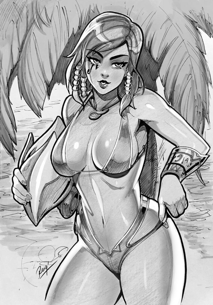 Play Nice Play Bikini Pharah AX Commish by reiq