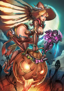 Overwatch Halloween Mercy vs Pharah Print pack SP