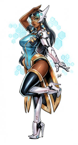 Symmetra Copic markers and Digital coloring