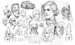 Ipad Pro Head Drawings and other stuff