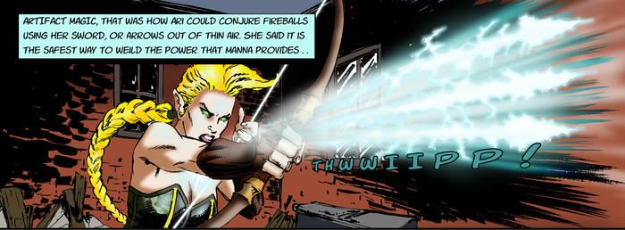ARISTAR looses her energy arrows