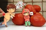 Spain and Romano Paperchildren: Buono Tomato by inuyashazeldaeragon