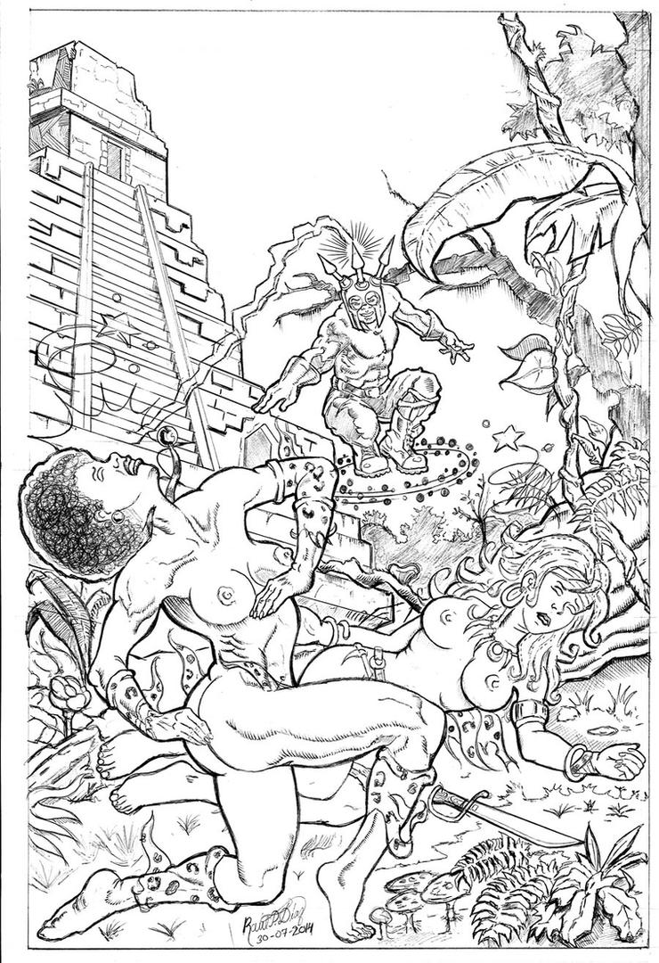 PantherGirl And Shanna Koed by Capt Helmet Pencils by RaelIAK