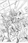 Commission: Marcus KO'ed by Smoking Trio! PENCILS