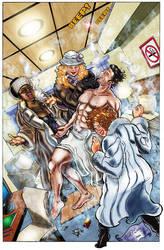 Commission:Marcus KO'ed by Smoking Trio COLOR by RaelIAK
