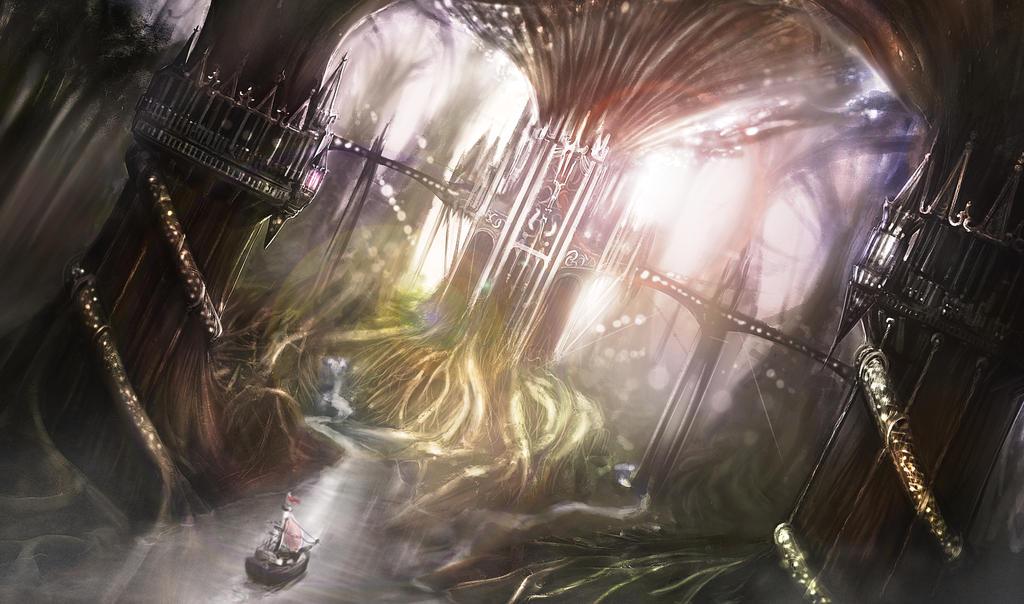Elf dwelling environment by Samscrapbook